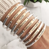 Inspiration Words Stacking Bangles - Gold Tone