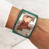 Farm Animals Open Cuff Bracelet - Cow