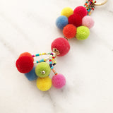 Pom Pom Key Chain Bag Embellishment