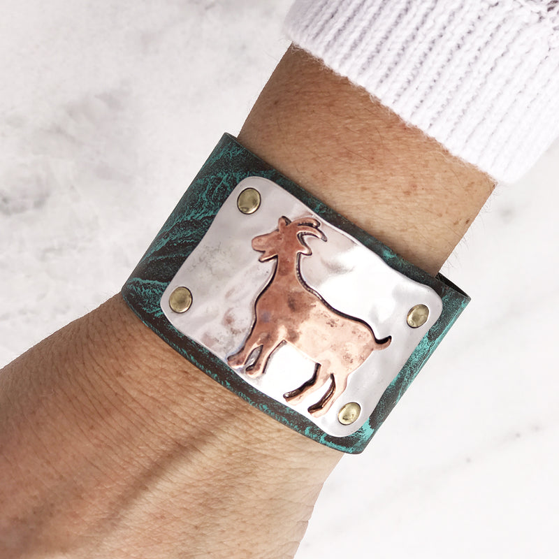 Farm Animals Open Cuff Bracelet
