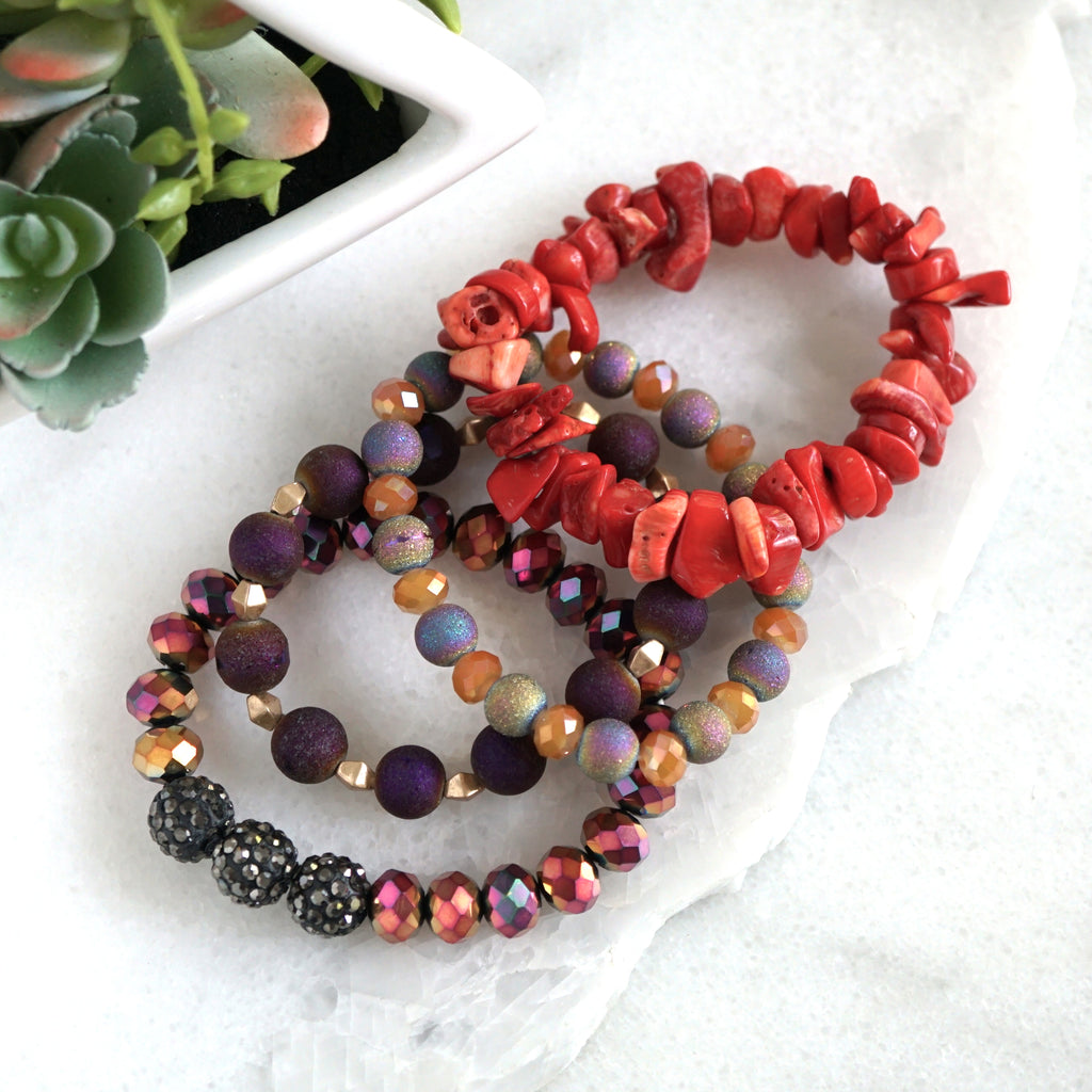 Bracelet Set Chunky beads