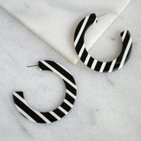 Black and White Resin Hoops