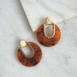 Resin Circle earrings