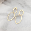 Geometric Earrings - Gold Tone