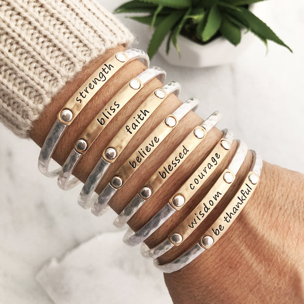 with vintage large ekg beat bangle threaded heart natural your stone bracelet follow bangles page personality set words collections bracelets lureme