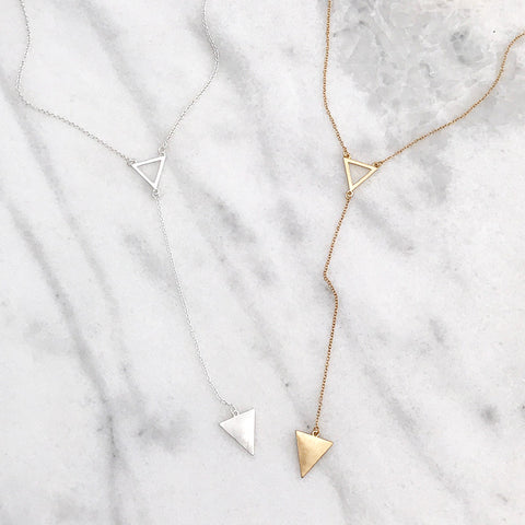 Texas Dainty Hammered Short Necklace - Gold Tone