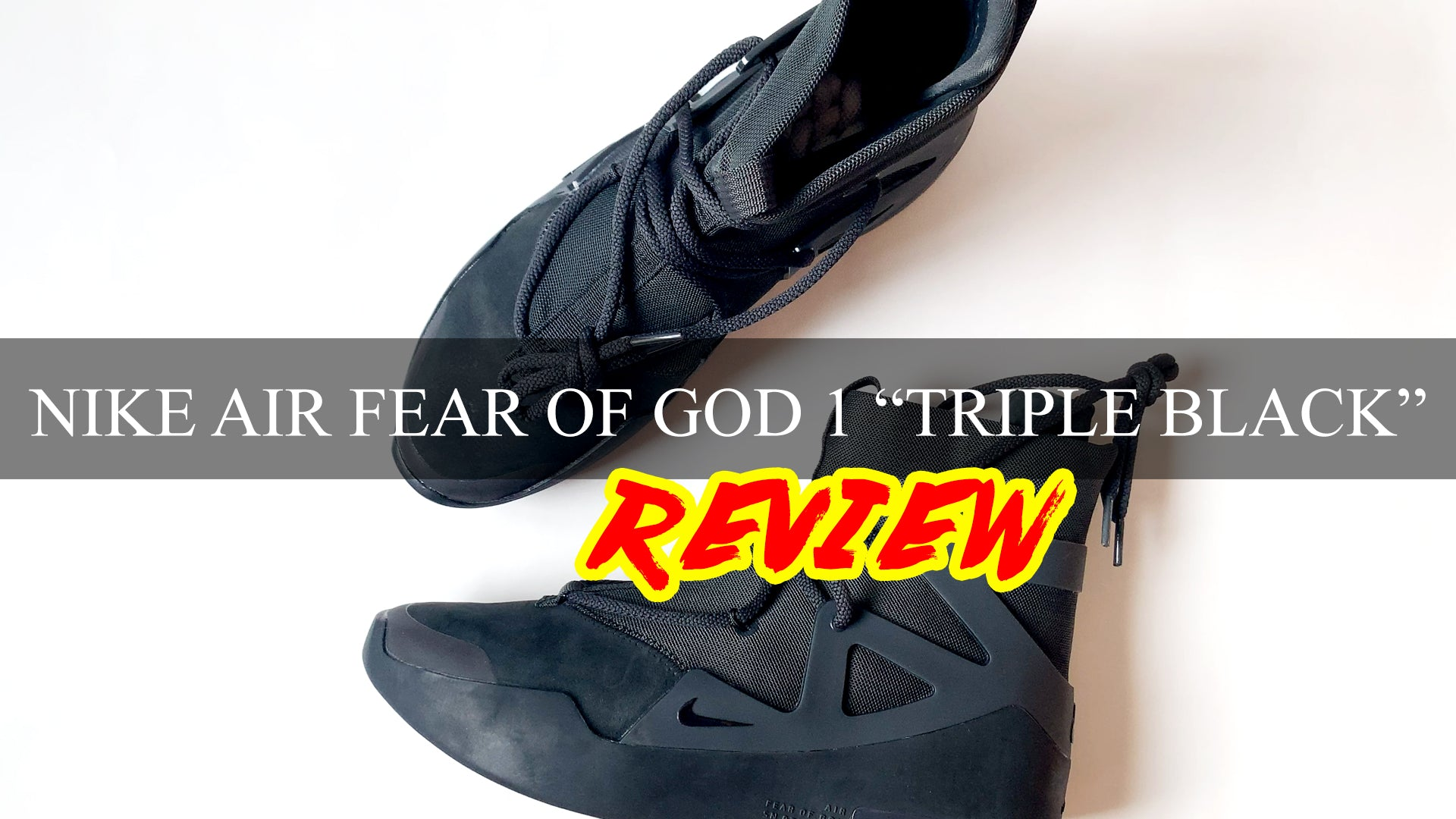 "Nike Air Fear Of God 1 ""TRIPLE BLACK"" 