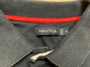 Vintage Nautica Color Block Rugby Polo Shirt