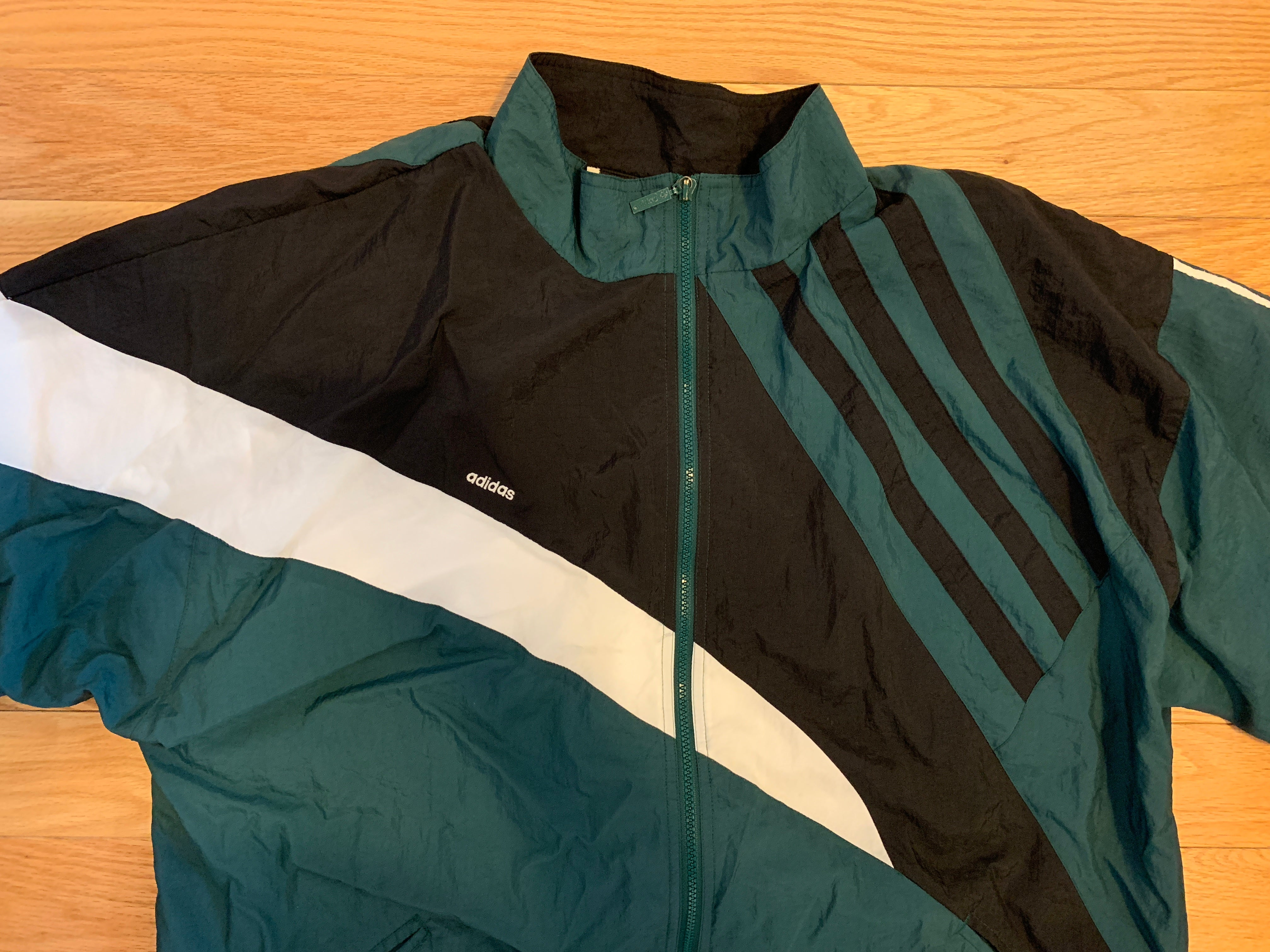 Vintage 90's Adidas Color Block Windbreaker Jacket
