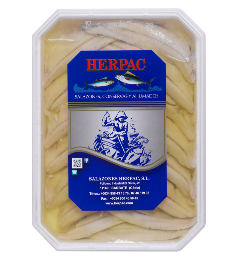 Herpac Boquerones in Vinegar and Sunflower Oil 150g