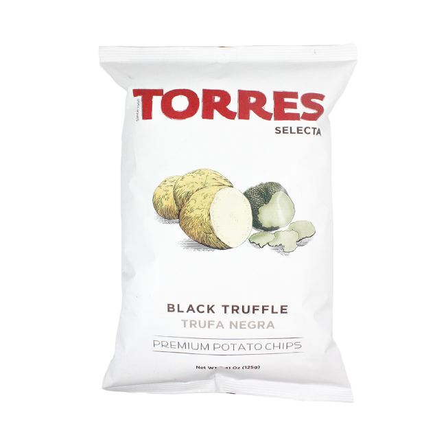 Torres Black Truffle Potato Crisps, 125g