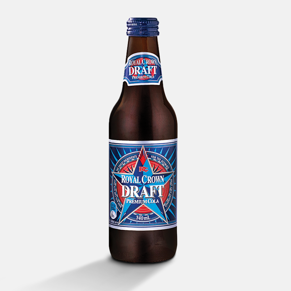 Royal Crown Draft Premium Cola 340mL x 24