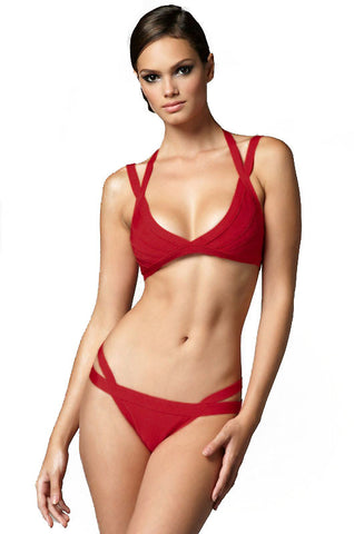 Apple Red Bandage Bikini