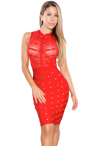 Altea Red Bandage Dress