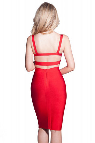 Smokin Red Bandage Dress