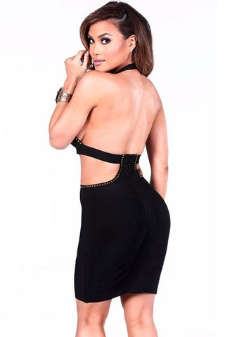 Sultry Black Bandage Dress