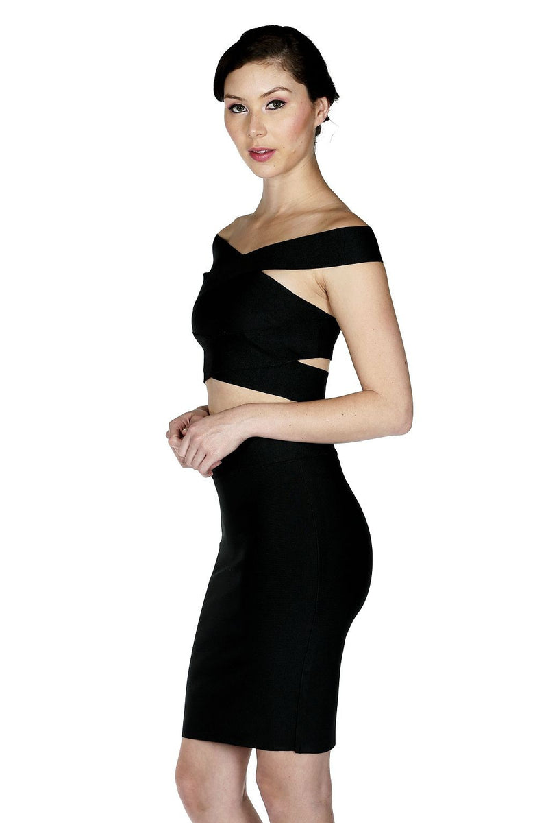 Raven Two-Piece Bandage Dress - waist trainer, dress - waist trainer, swancoast.com ann chery,