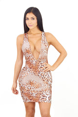 Cheetah Dress - waist trainer, dress - waist trainer, swancoast.com ann chery,