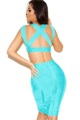Criss Cross Two-Piece Bandage - waist trainer, dress - waist trainer, swancoast.com ann chery,