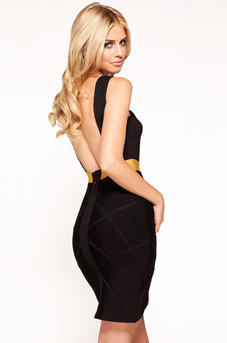 Night Owl Bandage Dress