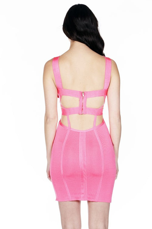 Amaranth Bandage Dress - waist trainer, dress - waist trainer, swancoast.com ann chery,
