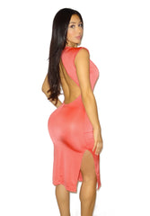 Hekate Coral Dress - waist trainer, dress - waist trainer, swancoast.com ann chery,