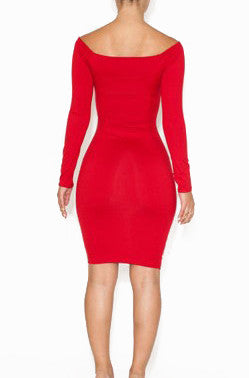 Red Aditi Dress