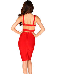 Smokin Red Bandage Dress - waist trainer, dress - waist trainer, swancoast.com ann chery,