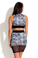 Snake Two Piece Set - waist trainer, dress - waist trainer, swancoast.com ann chery,
