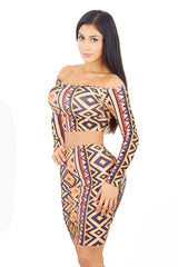 Tribal Two Piece Dress - waist trainer, dress - waist trainer, swancoast.com ann chery,