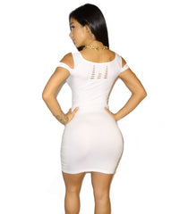 Astrid White Dress - waist trainer, dress - waist trainer, swancoast.com ann chery,