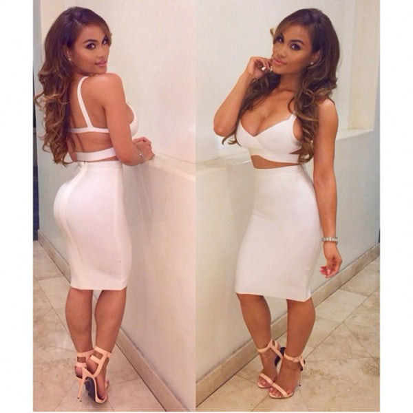 Smokin White Bandage Dress - waist trainer, dress - waist trainer, swancoast.com ann chery,