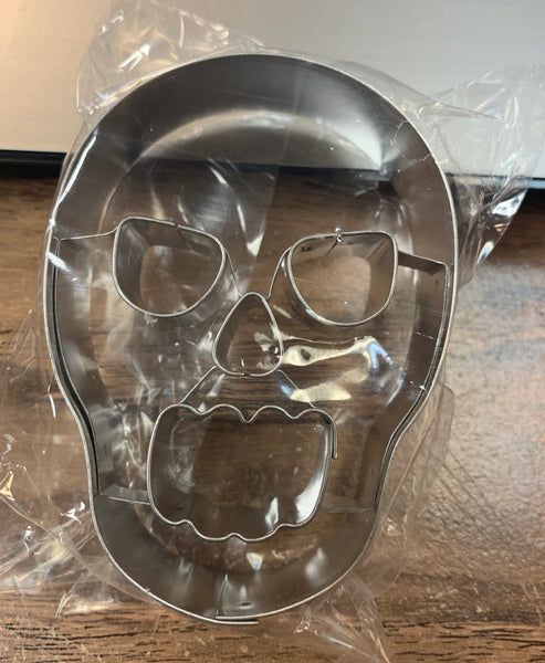 Skull Cookie cutter 3.35""