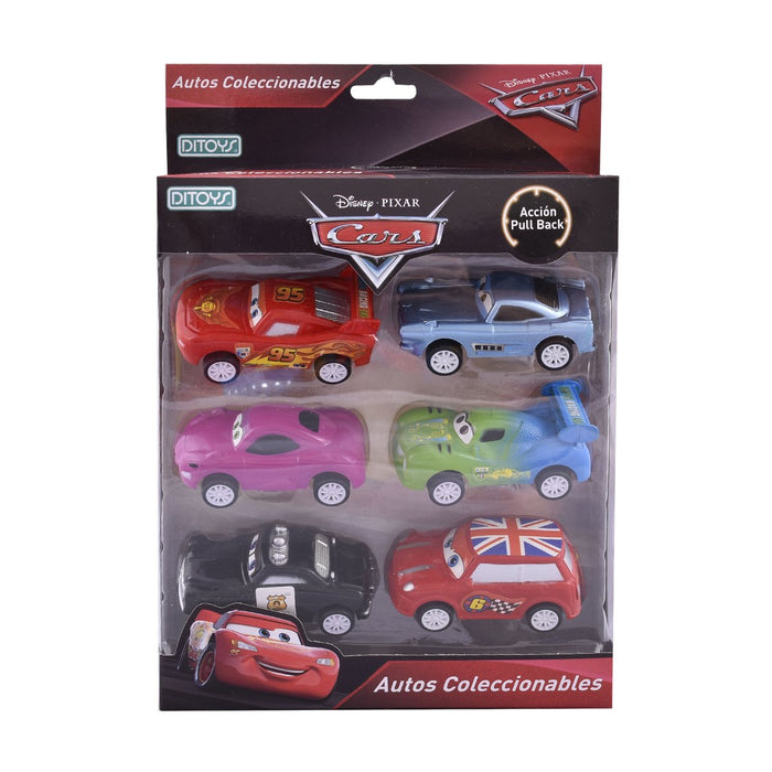 Autitos A Friccion Car Pull Back x 6 Ditoys - Citykids