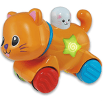 Gatito De Arrastre Press And Go Luz Y Sonido Winfun - Citykids