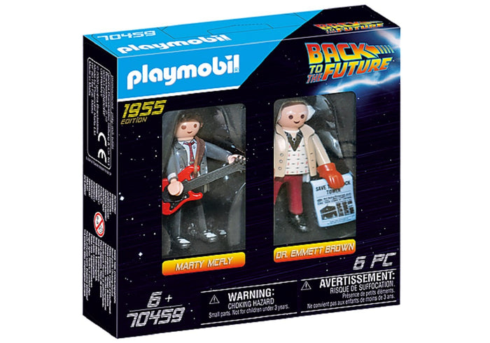 Playmobil Volver Al Futuro Marty Mcfly Dr Emmett Brown 70459 - Citykids