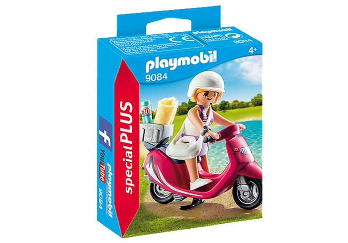 Playmobil Special Plus Mujer Con Scooter Original 9084 - Citykids