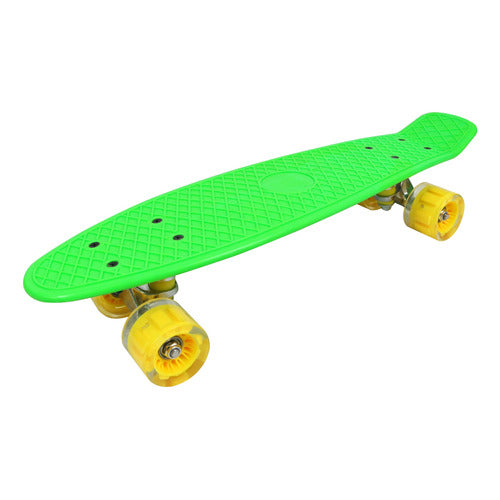 Skate Patineta Infantil Retro Boards Graffiti Con Luz Ik0013
