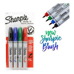 Marcador Permanente Sharpie Brush Tip Punta Pincel X 4 U