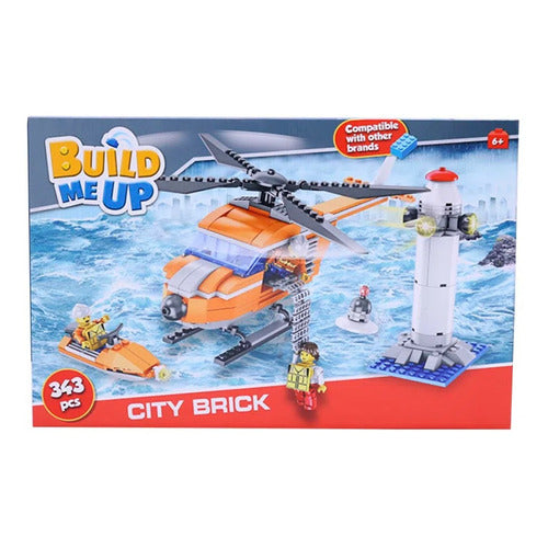 Build Me Up City Set Helicoptero 343 Piezas