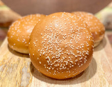 Load image into Gallery viewer, Brioche Burger Roll with Sesame 85g (Bag of 6)