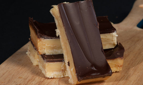 GF Caramel slice (only sold by slab - 14 pcs)
