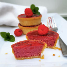 Load image into Gallery viewer, GF Raspberry Vanilla Tart - 6pk