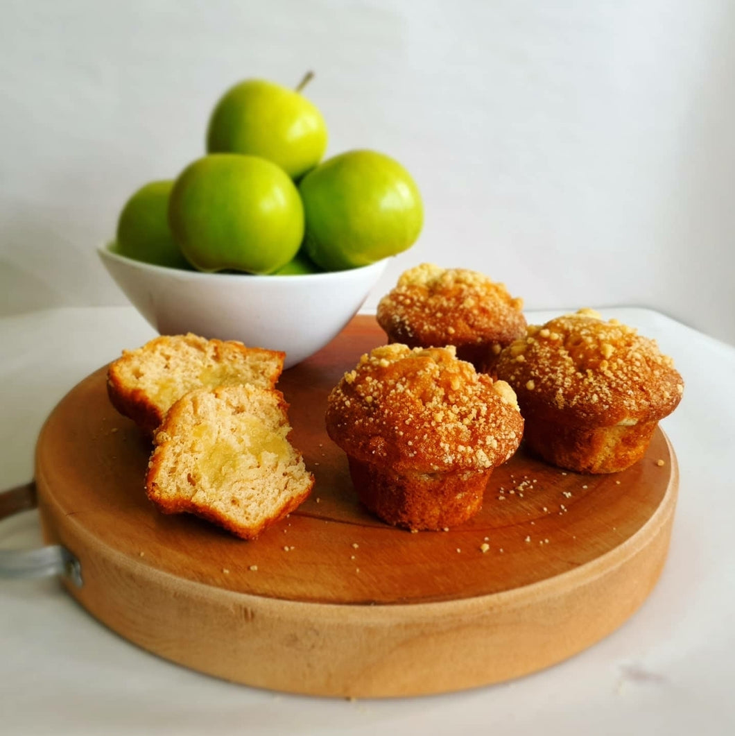 Muffins Apple Cinnamon (Box of 4)