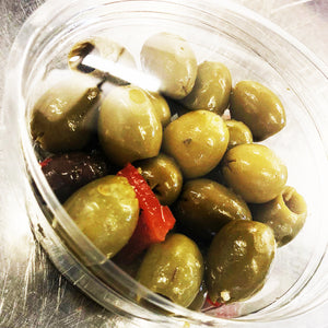 Mixed pitted Mediterranean Olives 180g