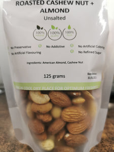 Unsalted Roastwd Almond + Cashew Nuts 125g