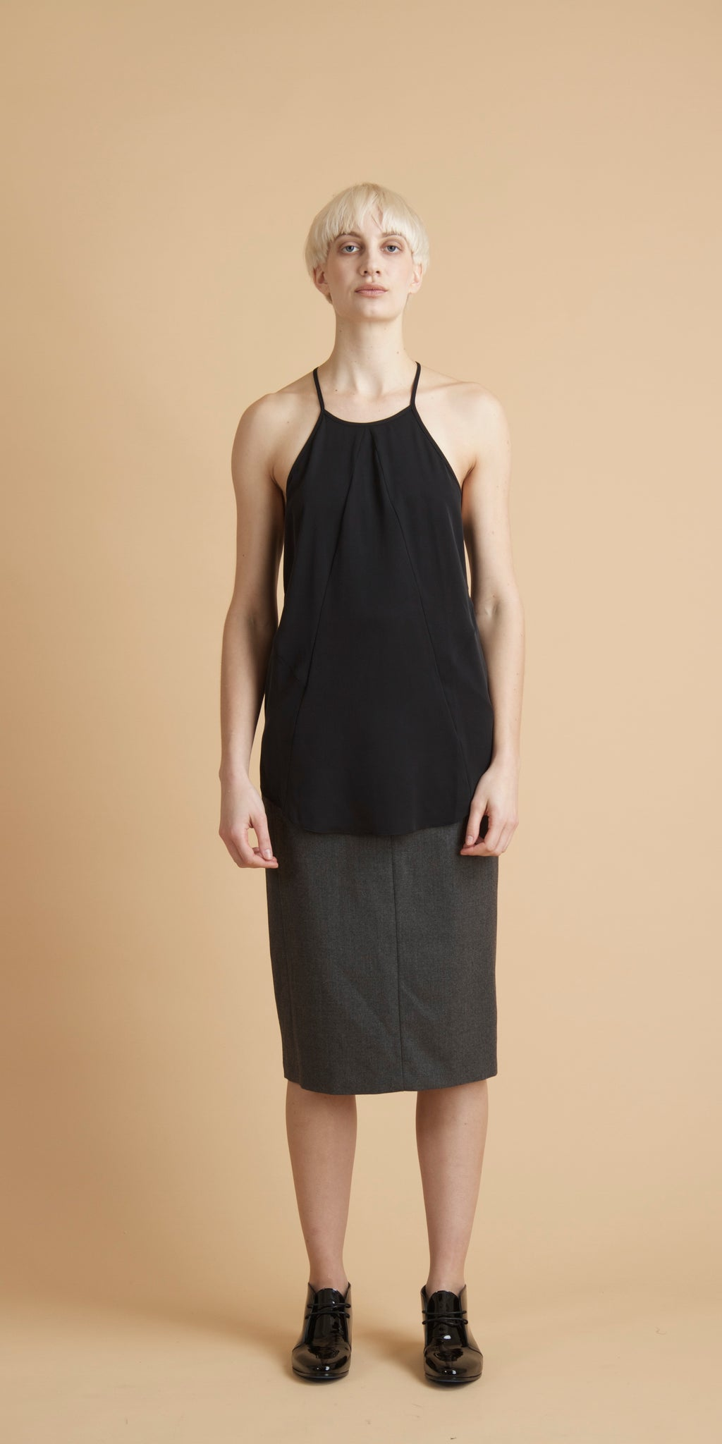 Column Slim Skirt