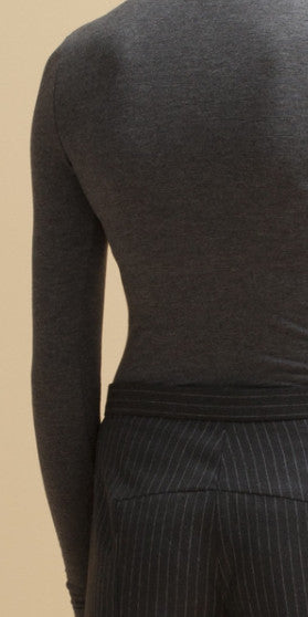 Fine Gauge T-Neck Sweater
