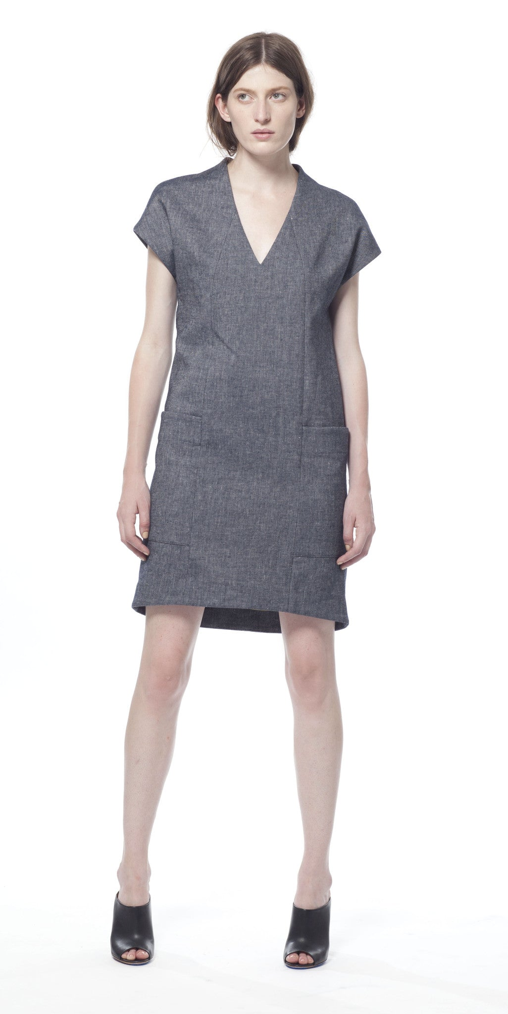 Polygon Denim Dress