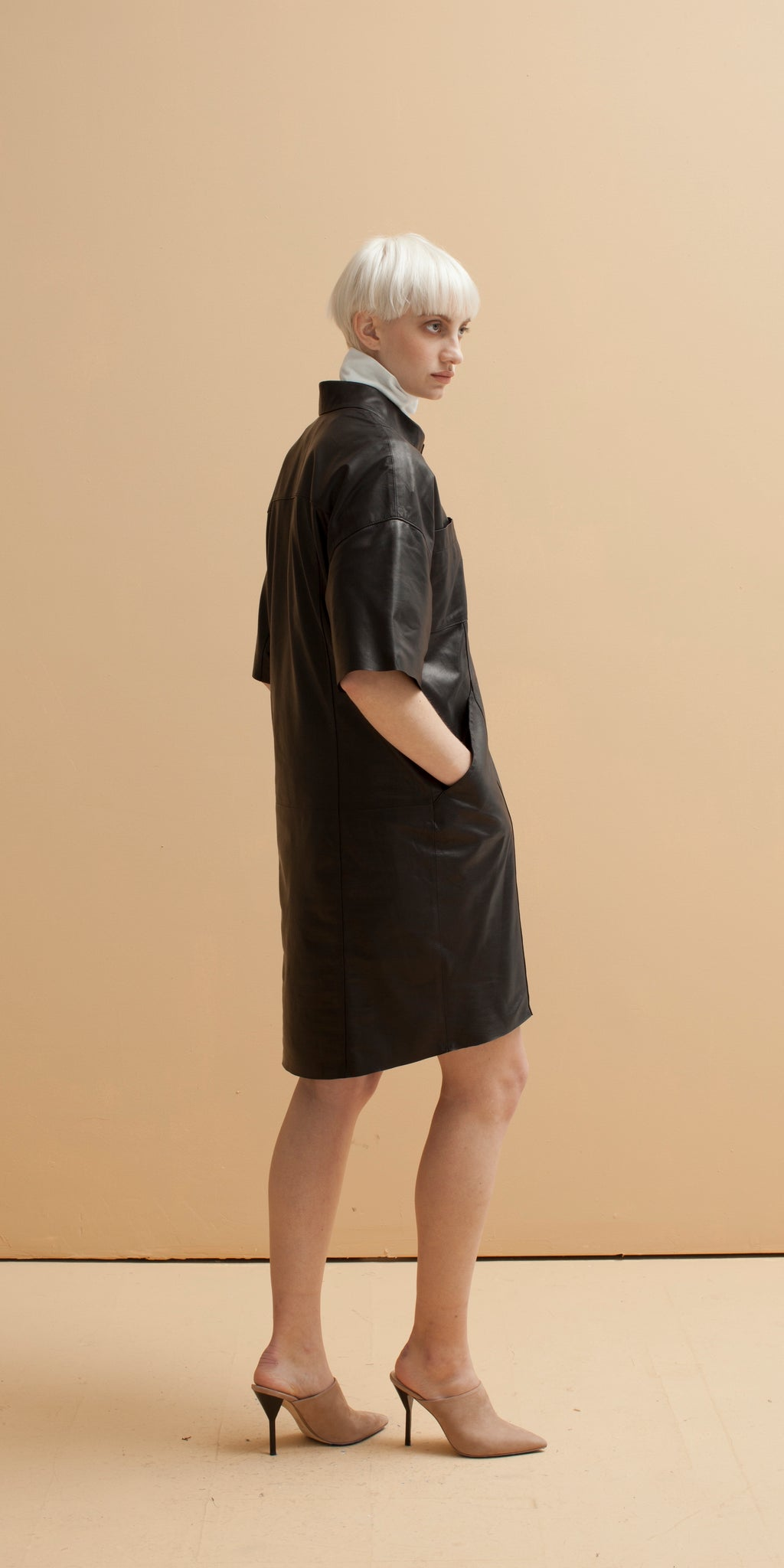 Odyssey Tailored Leather Dress